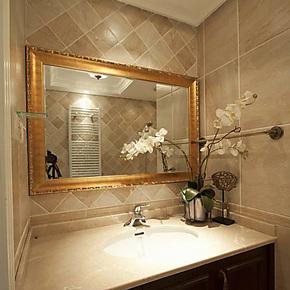 YISHARE 简约 浴室镜 卫浴镜 欧式镜子 带框镜 YS5030
