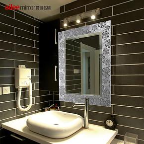 爱丽名镜 浴室镜子 防雾卫生间镜 雅致装饰卫浴镜 梳妆镜AL-YM008