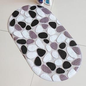 卫浴地垫门垫 整体浴室地垫防滑垫 大号鹅卵石PVC浴室垫脚垫