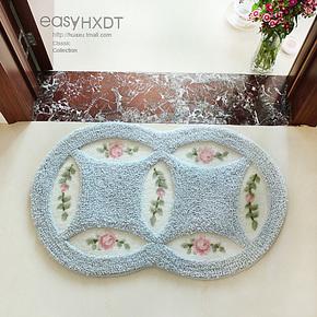 华旭 新款特价 喜庆铜钱地垫门垫 浴室吸水防滑脚垫 卧室地毯