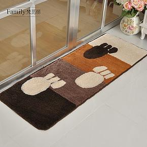 时尚绒面厨房移门防滑吸水地垫门垫脚垫飘窗垫卧室床前地垫包邮