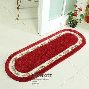 【华旭】新款特价玫瑰田园飘窗卧室地毯 防滑地垫门垫 浴室吸水垫