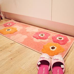 ROBO卡通小花玄关地垫沙发茶几飘窗客厅卧室地毯浴室吸水防滑垫