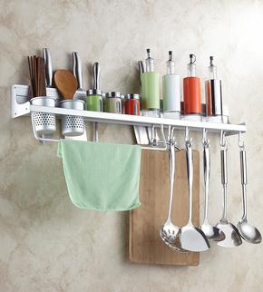 太空铝多功能厨房置物架 用品收纳架 刀架 五金挂件 调味调料架