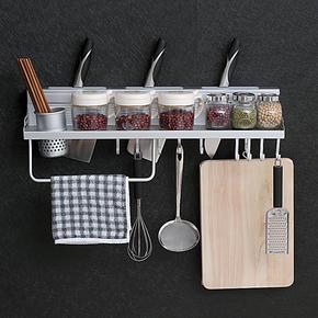 韵之洁太空铝厨房挂件置物架刀架调味调料架筷筒架挂钩