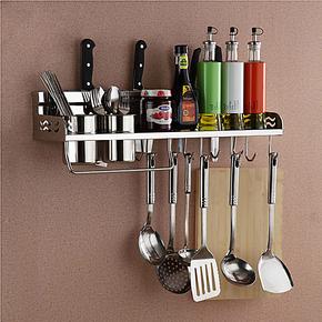 固佳304不锈钢厨房挂件 壁挂厨房置物架挂架刀架收纳架 移动挂钩