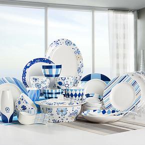 hoomey韩式时尚陶瓷餐具套装 高档骨瓷碗盘碟套装 新品特价包邮