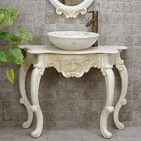 Meaka/茗嘉 艺术台上盆欧式仿古洗手洗面盆环保人造石洁具洗漱池