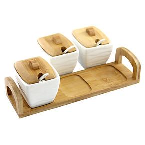 厨房用品陶瓷调味罐套装调料瓶调味瓶盐罐调味盒调料盒调料罐