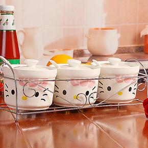 序强特价 陶瓷调味罐 调味品罐 陶瓷欧式 厨房调味罐套装 田园风