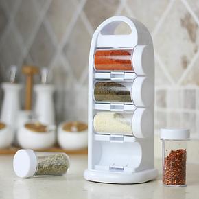 MIU COLOR米悠本色 创意八瓶调味架 厨房调味罐调味瓶调料盒套装