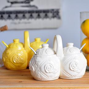 悦品饰家 陶瓷调味瓶 调料罐 密封罐 调料盒 厨房用品 1110