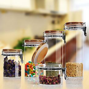 密封罐 莫诺糖果玻璃罐 厨房杂物储存罐 花茶奶粉罐 厨房保鲜罐