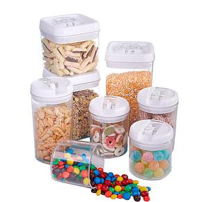 稻草屋/易扣密封罐 奶粉罐 大号塑料储存罐储物罐 茶叶罐零食罐