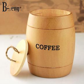 beng 咖啡豆储存罐 古朴典雅的小香木桶  咖啡勺/香木桶 装饰桶