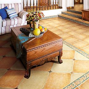 地中海哑光仿古砖瓷砖圆角砖 客厅厨房防滑地砖 防潮耐磨 500 500