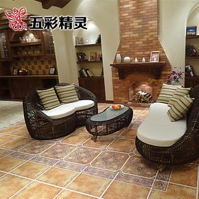 五彩精灵仿古瓷砖 美式乡村风格 厨房卫生间浴室地板砖 地砖客厅