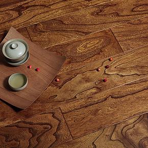 书香门地 多层实木复合地板 榆木 优树美地地板 弗雷斯诺003