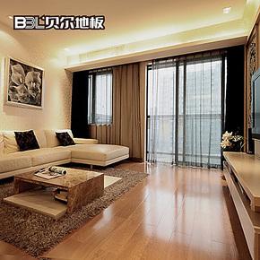 贝尔地板 强化地板 复合木地板 12mm 家用地热地暖地板 古巴印橡