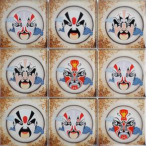 豆豆水晶玻璃艺术脸谱马赛克瓷砖镜面拼图背景墙家装建材