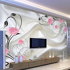 塞丽雅 电视背景墙纸pvc壁纸大型壁画客厅卧室温馨浪漫特价自粘画