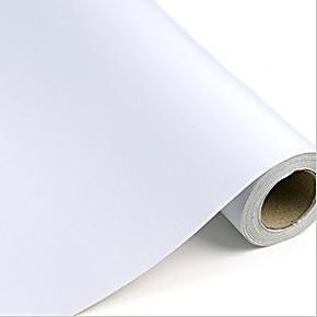 余美PVC自粘墙纸纯白色即时贴客厅卧室壁纸背胶家具翻新贴Y998
