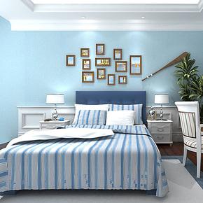 歌诗雅无纺布壁纸家装卧室客厅满铺 纯色素色简约时尚环保墙纸218