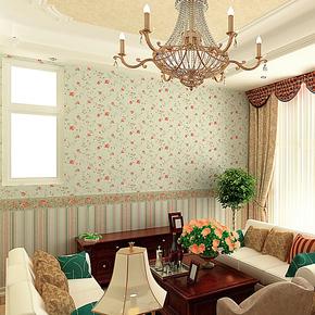 歌诗雅墙纸 卧室客厅满铺 欧式田园风格小碎花壁纸179 AB版腰线