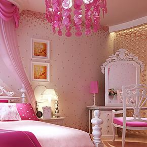 慕勒卧室墙纸温馨浪漫日式樱花壁纸 客厅沙发 儿童房间墙纸无纺布