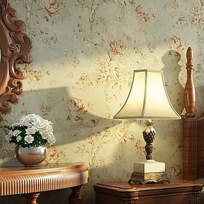 将旗 美式乡村田园大花亲墙纸 卧室床头客厅电视背景壁纸F86073