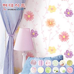 环保PVC自粘墙纸 田园浪漫温馨儿童房卧室客厅电视背景墙壁纸特价