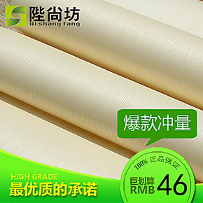 陛尚坊 素色简约条纹墙纸 环保无纺布 客厅卧室走道满铺背景壁纸