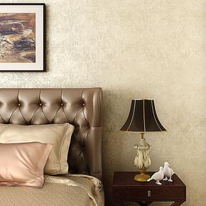 歌诗雅无纺布壁纸 卧室客厅满铺现代简约纯色素色温馨黄色墙纸105