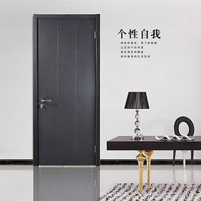 木门室内门房门实木复合门卧室门水曲柳开放漆套装门PB011