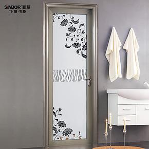活动特价包安装 高档铝合金室内门 厨房卫生间门 钢化玻璃平开门