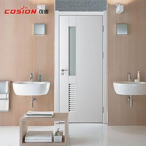 cosion可信纯白时尚卫生间门浴室门卫浴门洗手间门厕所门厂家直销