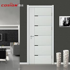 cosion可信德式木门 白色木门 免漆门套装门厂家直销包安装kx-572