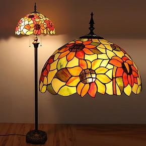 特价欧式客厅卧室书房田园落地灯16寸向日葵床头灯酒吧咖啡馆灯具