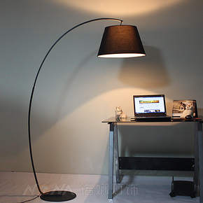 美式乡村落地灯钓鱼灯客厅 美克美家宜家卧室书房创意现代灯具