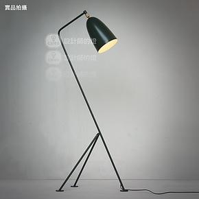 【设计师的灯】Grasshopper美欧式客厅卧室复古创意灯 夏布落地灯