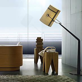 乐灯 简约现代可翻转落地灯 布罩大型客厅卧室床头书房落地灯