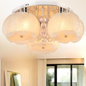 现代简约客厅灯 led吸顶灯 圆形水晶灯 卧室灯具餐厅灯饰包邮6962