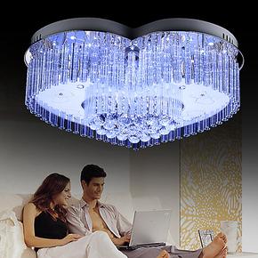 自由亮现代家装主材led水晶灯饰吸顶客厅卧室灯饰温馨浪漫心形灯