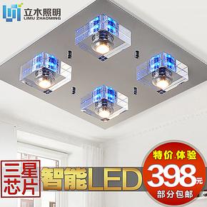 LED吸顶水晶卧室灯 节能环保书房客房简约时尚灯饰灯具 LC1136-4