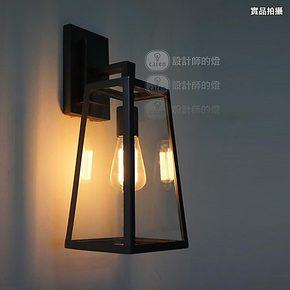 【设计师的灯】RH Loft 北欧美式阳台创意复古 爱迪生玻璃箱壁灯