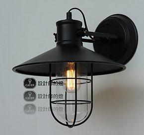 【设计师的灯】Loft 乡村工业复古 北欧美式床头灯 仓库鸟笼壁灯