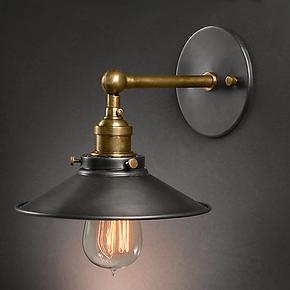 爱迪生餐厅壁灯美式乡村卧室床头灯书房灯具过道阳台灯喇叭壁灯