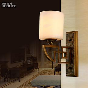 豪丽特西班牙云石中式灯卧室灯床头灯壁灯具灯饰现代简约创意特价