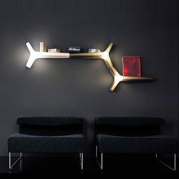 乐灯 北欧宜家变形书架壁灯 现代简约创意客厅卧室书房床头灯具