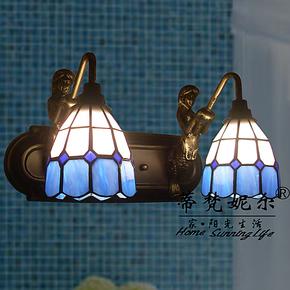 13新款帝凡尼灯饰灯具镜前灯洗手间卫浴多头美人鱼地中海风情壁灯